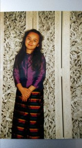 Little Sirinya in traditional Thai dress