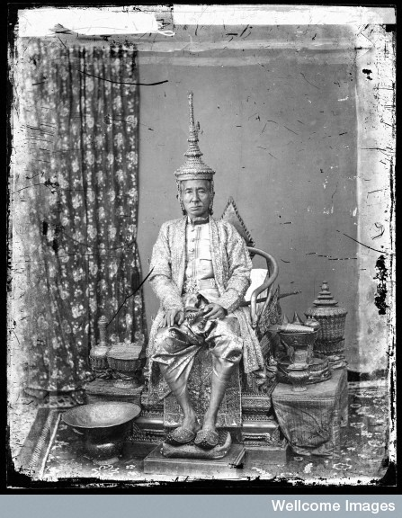 L0055542 The 1st King of Siam, King Mongkut, in state robes, Bangkok