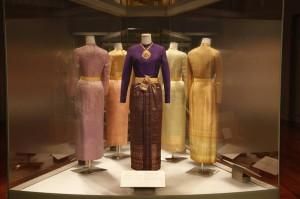 traditional dresses at Queen Sirikit Museum of Textiles