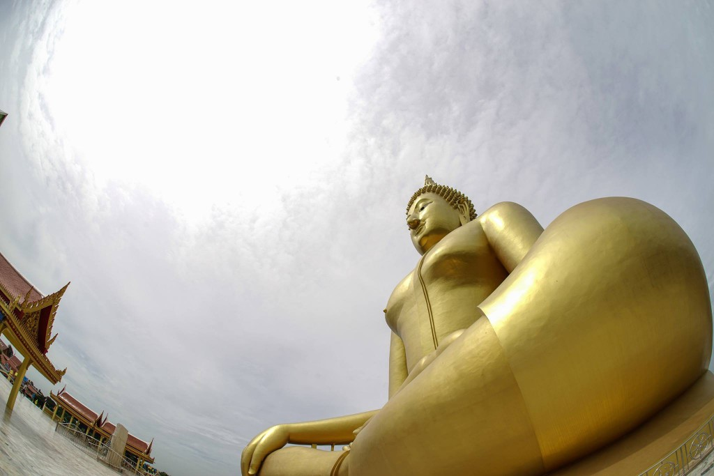 The Great Buddha against the blue sky*