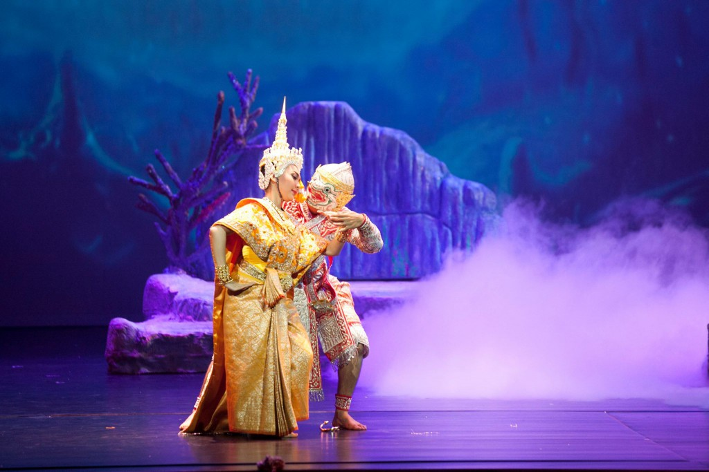Hanuman, the monkey god, luring Sita*