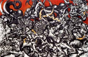Battle of Mara (1989), oil on canvas (photo credit: rama9art.org)