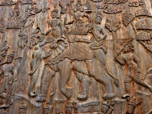 Large Carving on Wall at the Black House Museum (photo credit: Anandajoti Bikkhu)