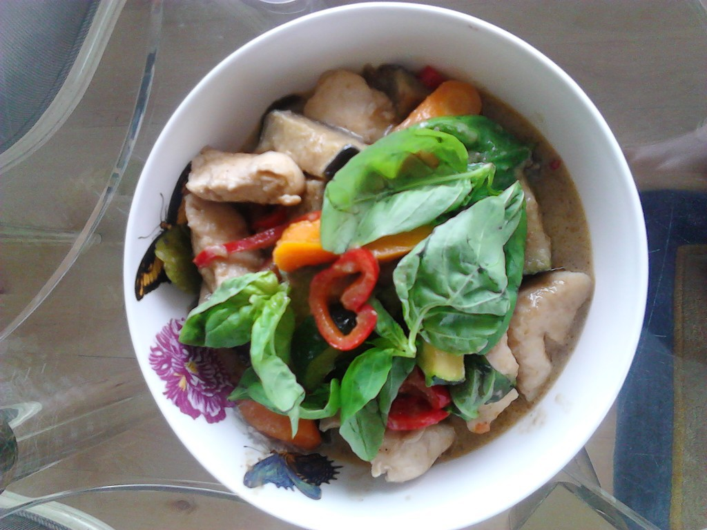 Thai green curry, homemade by myself
