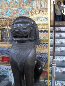Singh, the mythical lion (photo taken by myself)