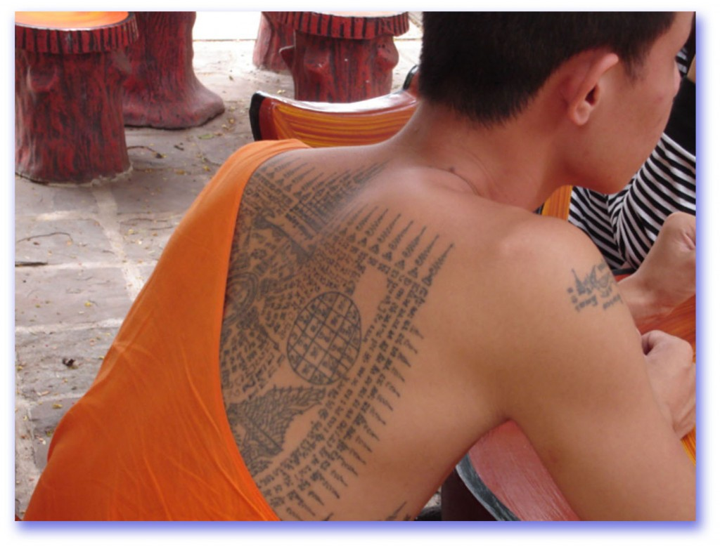 Tattooed Monk of Wat Bang Pra (photo credit sak-yant.com)