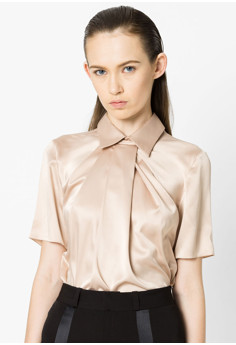 Drapped short sleeve blouse*