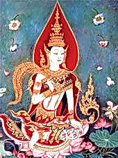 A painting of the Thai rice spirit (photo credit: devata.org)