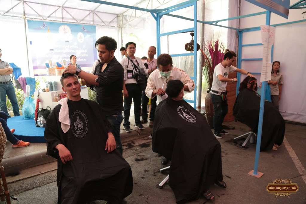 "Free haircuts at the event ""Creative Industry, Gift for MOM"""
