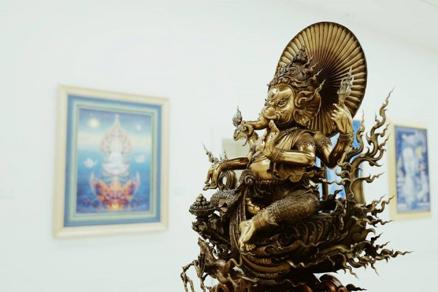 An artful sculpture of Ganesha (Phra Pikanet) a Hindu God in Thai culture*