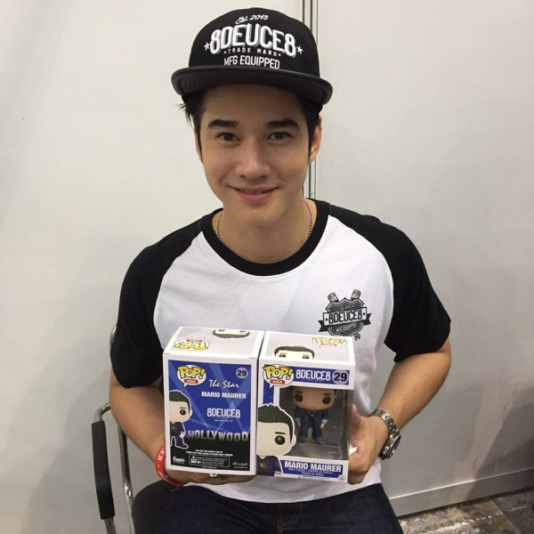 Mario Maurer with his Funko Pop (photo Mario Maurer FBpage)