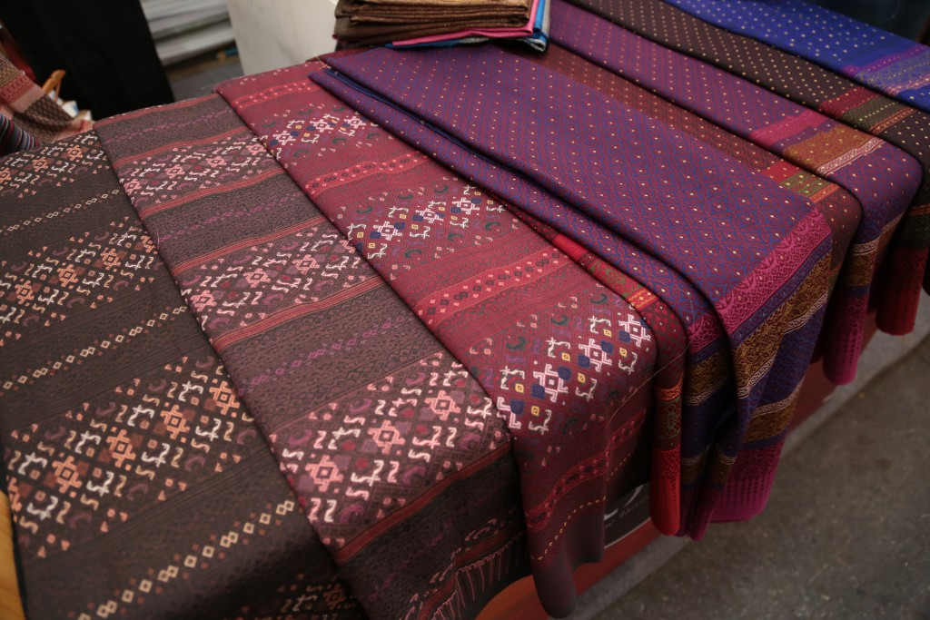 Unique Thai silk is an OTOP Product at Khlong Phadung Krung Kasem