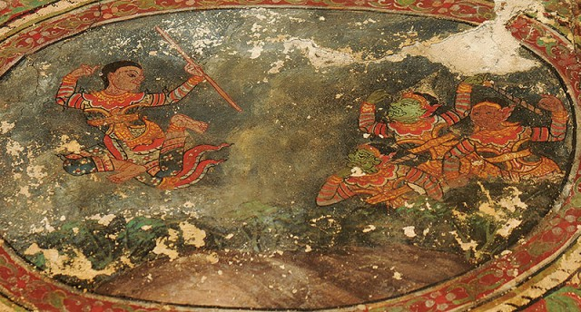 Sangthong mural, Thai folklore (photo: ich.culture.go.th)