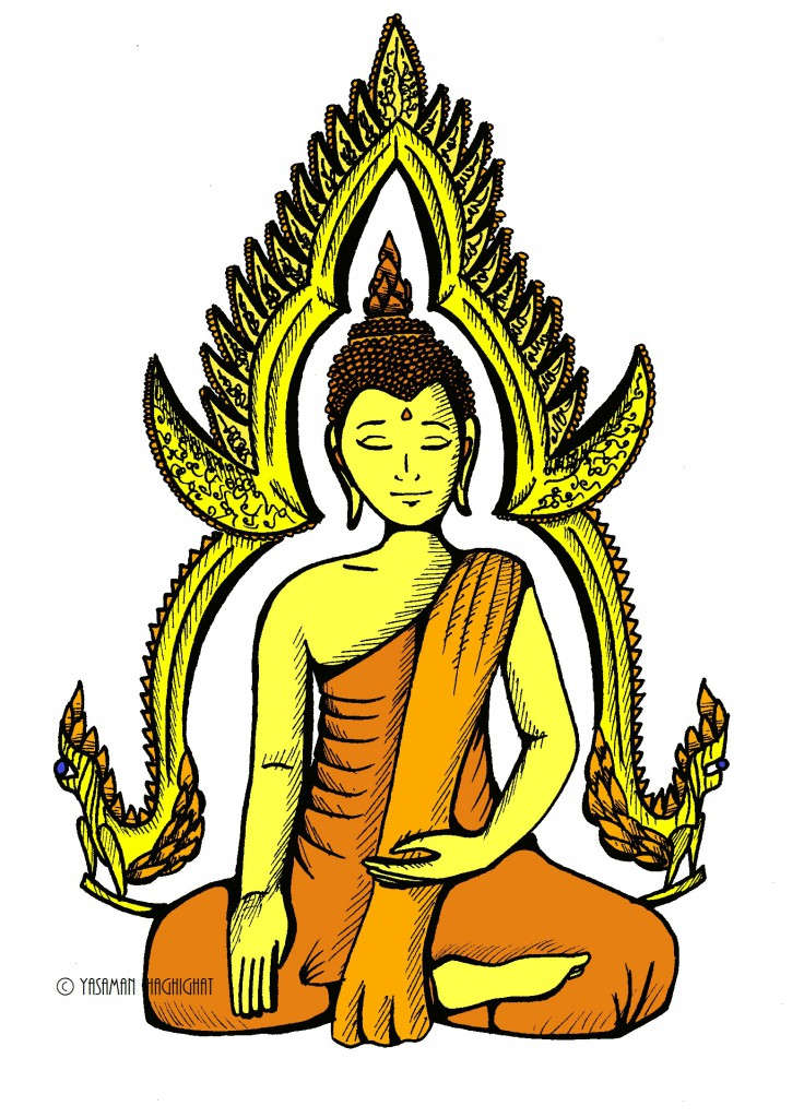 Buddha illustration by Yasaman Haghighat