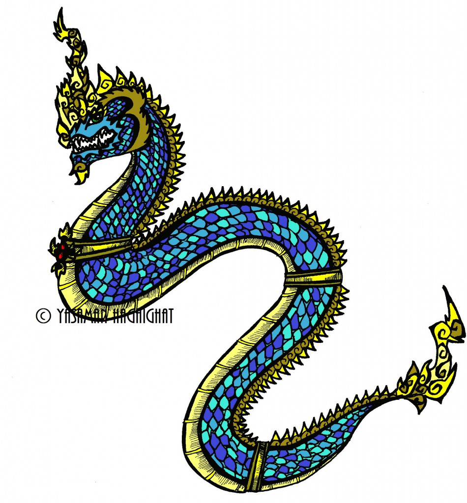 Naga, the mythical snake by Yasaman Haghighat naga