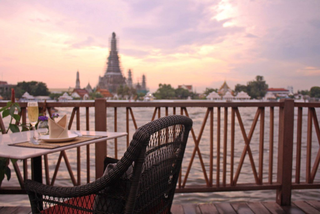 View on Wat Arun from from Bitter Deck at Sala Arun. photo: Amazing Thailand FB page