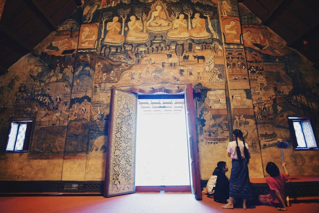 Painting in a temple in Nan National Park in Nan, Thailand Temple in Nan (photo: Siwaphong Pakdeetawan, Instagram @knack66)
