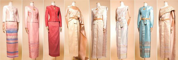 8 styles of traditional national Thai dresses