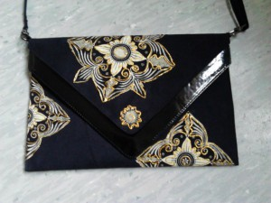 Clutch decorated with Thai fabric, Sirinya Ann's Atelier