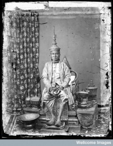 The 1st King of Siam, King Mongkut, in state robes, Bangkok
