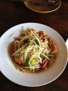 som tam, green papaya salad
