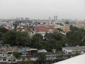View on the Grand Palace and Wat Arun