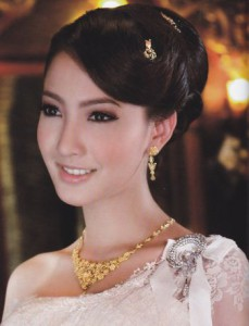Wedding hair and make up for Thai dress