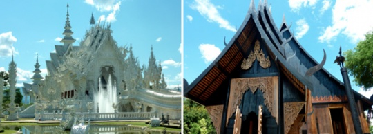 White Temple and Black House in Chiang Rai