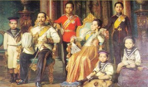 King Chulalongkorn and Family, dressed in Victorian fashion (photo credit: wikimedia.org)
