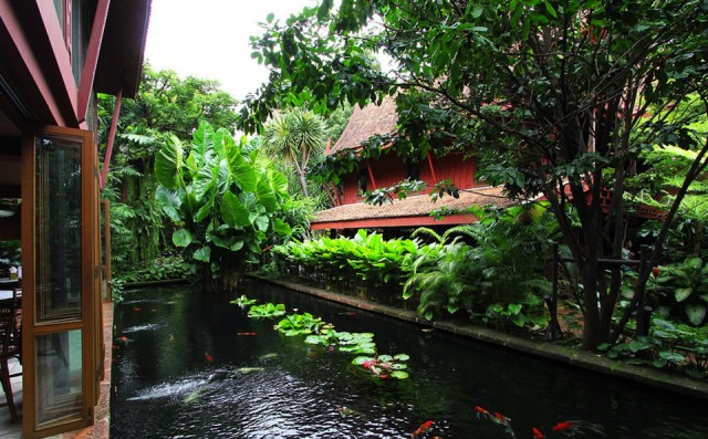 Restaurant & fish pond*