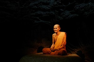 The enlightened monk Luang Poo Mun Bhuridatta.Considered the true and prime leader of all monks dedicated to Kammatthana practice (Buddhist insight meditation) in Thailand
