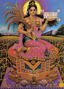 Thailand's rice goddess. Note that the letters seen top right are Khmer script (photo credit: devata.org)