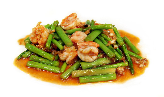Stir-fried asparagus with shrimp (photo credit: topicstock.pantip.com)
