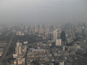 View from Baiyoke Sky Tower on the capital Bangkok (photo taken by myself)