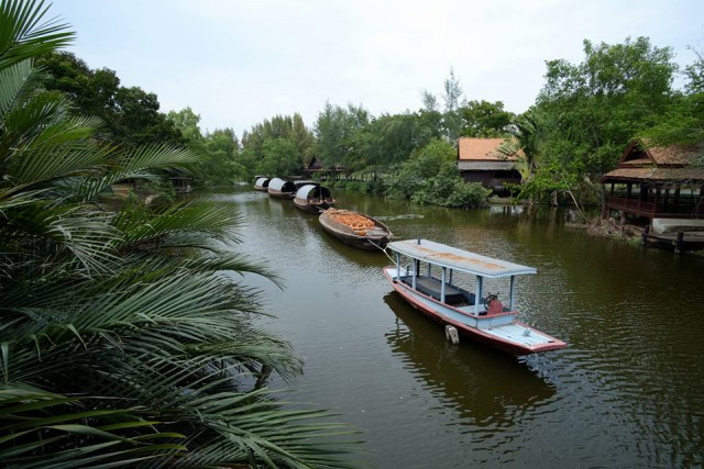 A waterway at Mueang Boran**