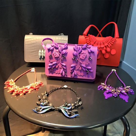 AW15 collection, necklaces and bags embellished with silicone flowers and decoration (photo: Ek Thongprasert, FB page)