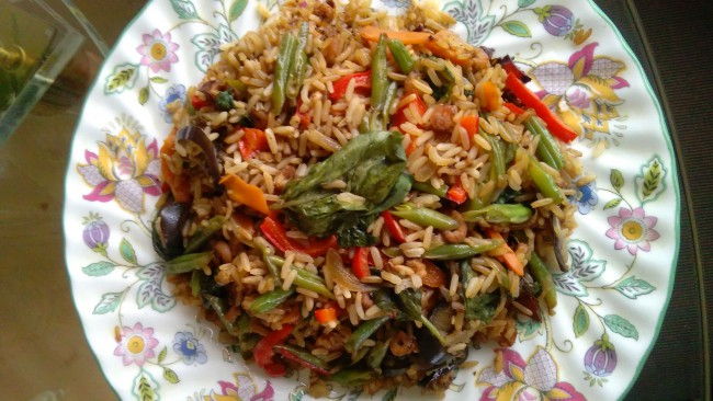 Thai Fried Rice with Vegetables (photo: Sirinya Pakditawan)
