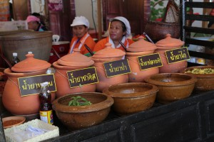 Another food speciality is Mo-Din Vermicelli with hot sauce from Baan Kradok, Nakonrachasima province