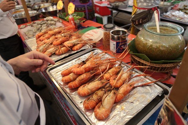 Fresh seafood in Thailand