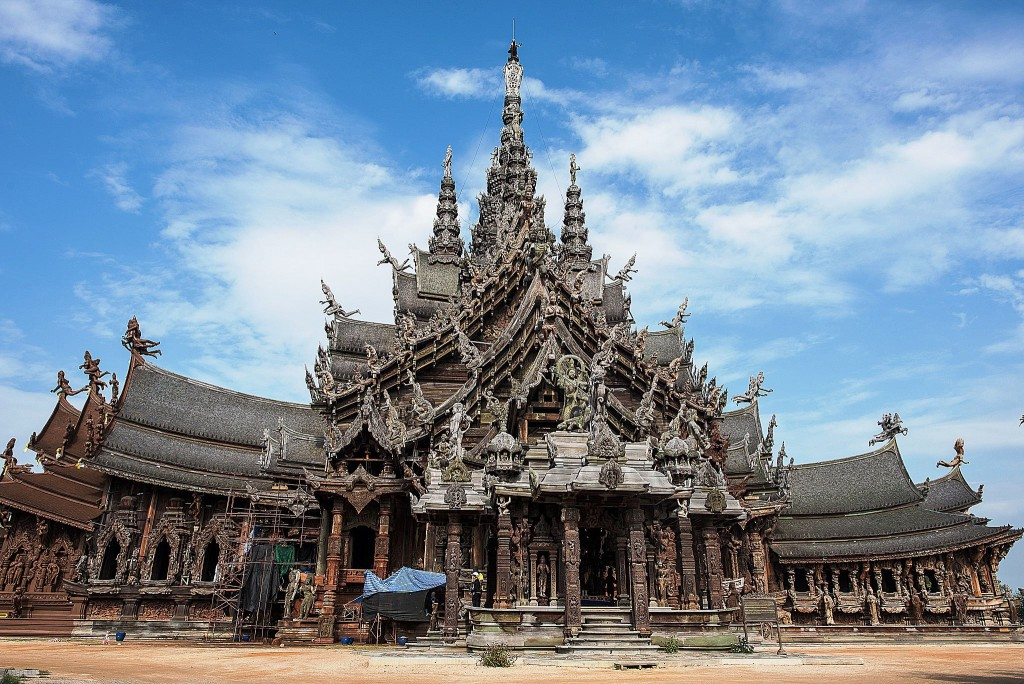 The Sanctuary of Truth, the four spires on the top roof represent the four elements