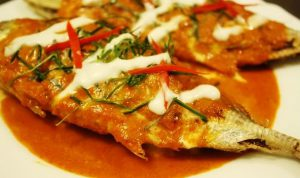 Mackerel in dried red curry (photo: bloggang.com)