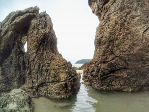 Land- and seacape, rockformation on the island near Ranong*