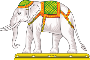 White Elephant of Thailand (Dressed) (credit: Sodacan, wikimedia.org)