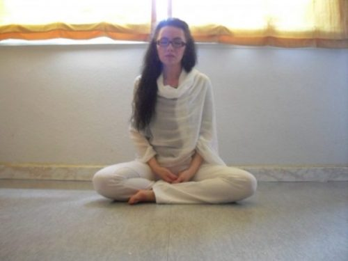Sirinya in meditation