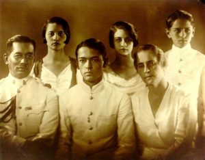 Family of Mhom Mali and General Mhomjao Thongyai with their four children